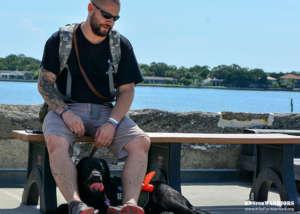 Warrior With Service Dog