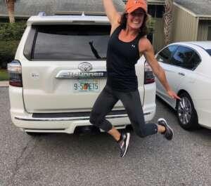 Jen Jumping for Joy